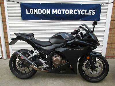 Honda CBR 500 R ABS 2017 ONLY 1,100 Miles, Yoshimura Can, FSH, Showroom Example