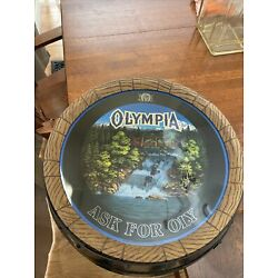 Kyпить 1983 Vintage Olympia Beer Ask For Oly Waterfall Barrel Light Up Sign на еВаy.соm
