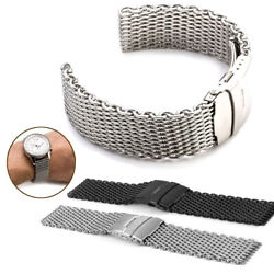 18~24mm Shark Mesh Stainless Steel Watch Band Strap fits Breitlin Thick & Heavy