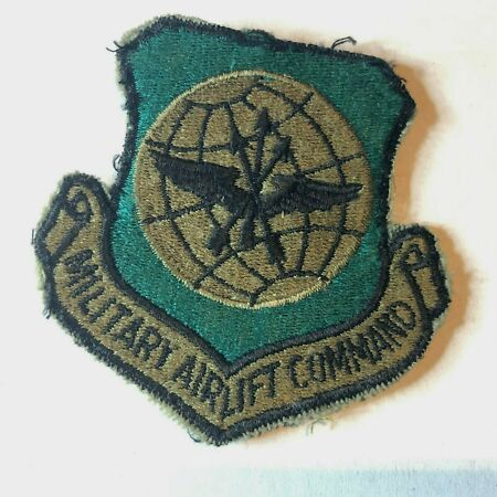 img-USAF Air Force Military Airlift Command Subdued Insignia Badge Patch Obsolete
