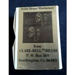 CLARE BELL BRASS Miniature Round Wall Sconce Pair #1770N