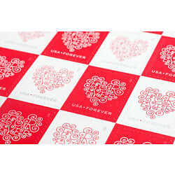 Kyпить 100 USPS Forever Hearts Forever Stamps 5 Panes of 20 на еВаy.соm