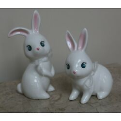 Kyпить NWT TARGET SPRITZ * SET OF 2 * WHITE CERAMIC BUNNY EASTER FIGURINES на еВаy.соm