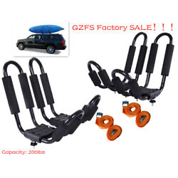 Kyпить 2 Pairs Canoe Boat Kayak Roof Rack Car SUV Truck Top Mount Carrier J Cross Bar на еВаy.соm