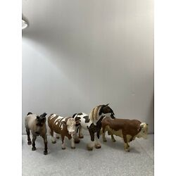 Kyпить Schleich - Horse And Cattle Lot - 4 Figures - Used на еВаy.соm