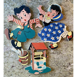 Kyпить 1950's Dolly Toy Co. Jack and Jill 238 Mother Goose Pin-Ups - Tipp City, Ohio на еВаy.соm