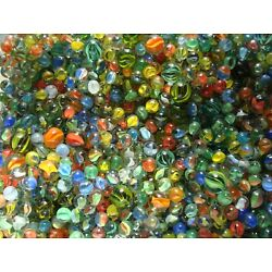 Kyпить 100 Vintage Classic Cats Eye Marbles Red Blue Multicolor With Shooters Free Ship на еВаy.соm