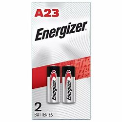 Energizer A23 Battery 12Volt 23AE 21/23 GP23 23A 23GA MN21 2 Pack Sealed