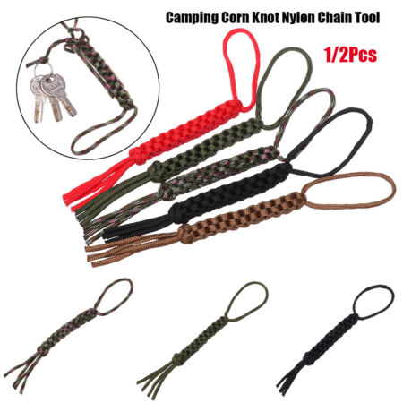 img-Rope Ornaments Knife Pendant Nylon Chain Tool Camping Corn Knot Survival Ropes
