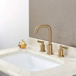 Kyпить Derengge Gold 8 InchTwo Handle Widespread Bathroom Faucet with Pop up Drain  на еВаy.соm