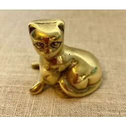 "Kyпить Small Solid Brass Cat Paper Weight 2.25"" на еВаy.соm"