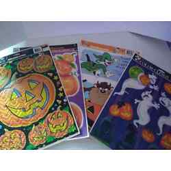 The Paper Magic Group Cling Window Decor Halloween Lot of 4 Looney Tunes