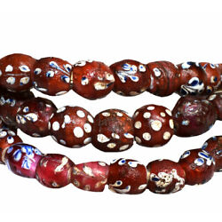 Kyпить Red Whitehearts Venetian Trade Beads Floral Africa на еВаy.соm