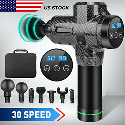 Kyпить 7 Heads LCD Muscle Massage Gun Deep Tissue 30 Speeds Percussion Massager Relax на еВаy.соm