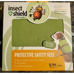 Insect Shield Insect Repellant Protective Safety Vest for Protecting Dogs  S/M