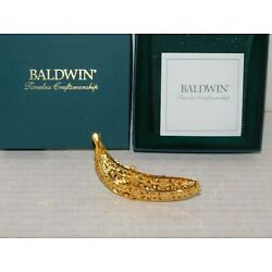 Kyпить Baldwin Brass BANANA FRUIT Christmas Ornament in Original Box 7222.010 на еВаy.соm