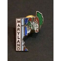 Kyпить VINTAGE MARYLAND STATE MAP CLOISONNE STYLE PIN EXCELLENT CONDITION  на еВаy.соm