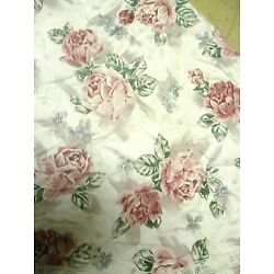 Kyпить Vintage Floral Round Home Made Round Tablecloth Table Cover Lace Edging 76