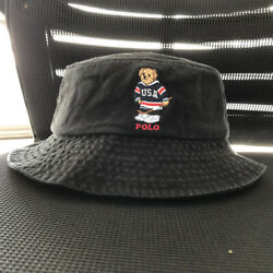 Kyпить Men's Bucket Hat Embroidery Hockey Pattern Polo Bear Cotton на еВаy.соm