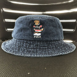 Kyпить Men's Bucket Hat Embroidery Hockey Pattern Polo Bear Casual Wear на еВаy.соm