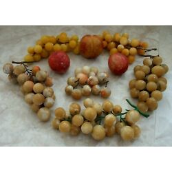Kyпить HUGE LOT OF VINTAGE MCM ALABASTER MARBLE STONE GRAPES PEACHES & PLUMS  на еВаy.соm