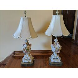 Kyпить Antique Benrose Italy Porcelain  Table Lamps - Set of 2 на еВаy.соm