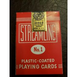 Kyпить Streamline No 1 ARRCO Playing Cards Vintage factory sealed box Red  на еВаy.соm