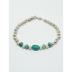 Kyпить 925 Sterling Silver Ball Bead & Turquoise 7