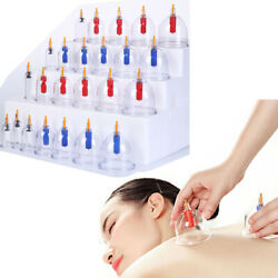 Cupping Set 24 Can Vacuum Device Suction Cups Medical Massage Cans Magnetic Body