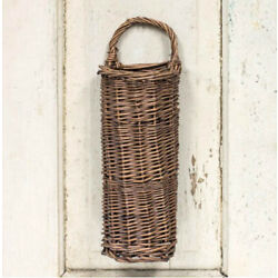 Hanging Basket Small Woven Willow for Artificial Florals Country Wall Decorating