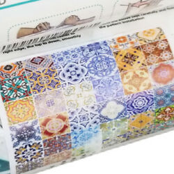 ONE Roll Mosaic Stairs Risers Tile Decal Stickers Staircase Wallpaper 6pc Each