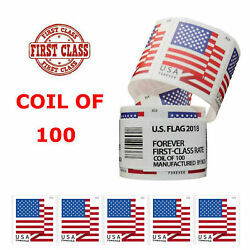 Kyпить Roll of 100 Stamps 2018 US Flag Forever Postage Stamps Free & Fast Shipping USPS на еВаy.соm
