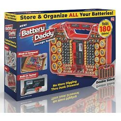 Kyпить Ontel Battery Daddy 180 Battery Organizer and Storage Case with Tester, 1 Count на еВаy.соm
