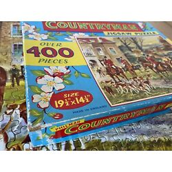 Kyпить Vintage 60's Philmar Countryman 'The Meet':400+ Piece Jigsaw Puzzle:370 x 495mm  на еВаy.соm