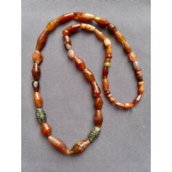 Kyпить A strand of mixed antique ancient African agate carnelian beads на еВаy.соm