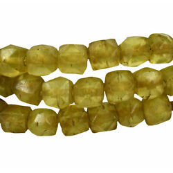 Kyпить Vaseline Trade Beads Yellow Bohemian  Cooper Collection Africa 32 Inch на еВаy.соm