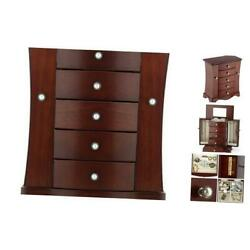 Kyпить Jewelry Box - Made of Solid Wood with Tower Style 4 Drawers Organizer and Brown на еВаy.соm