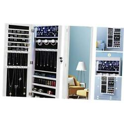 Kyпить  6 LEDs Jewelry Armoire Organizer, Wall/Door Mounted Jewelry Cabinet with White на еВаy.соm