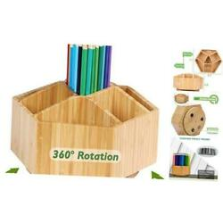 Kyпить Bamboo Rotating Art Supply Organizer, 7 Sections, Hold 350+ For Art Supply на еВаy.соm