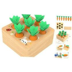 Kyпить  Wooden Toys for 1 Year Old Boys and Girls Montessori Size Sorting & Carrot на еВаy.соm