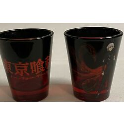 Kyпить Tokyo Ghoul Red Shot Glasses Set Funimation 2016 Pair USED на еВаy.соm