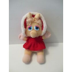 Kyпить Vintage McDonalds Baby Miss Piggy plush in red Christmas outfit  на еВаy.соm