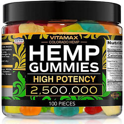 Natural Gummies for Stress Relief - Great for Pain, Insomnia & Anxiety  -100ct