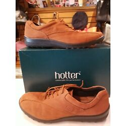 Hotter Comfort Concept Women's Shoes Size 10 Lace-up Caramel Tan Leather NWOT