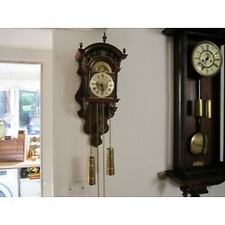 Kyпить DUTCH WALL CLOCK, 8 DAY MOONPHASE, CHAIN AND WEIGHTS DRIVEN на еВаy.соm