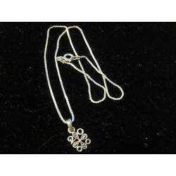 Kyпить NECKLACE MARCASITE STERLING SILVER Dainty Box Link Chain Baby WOW на еВаy.соm