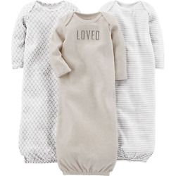 Kyпить Simple Joys by Carter's Baby 3-Pack Cotton Sleeper Gown на еВаy.соm