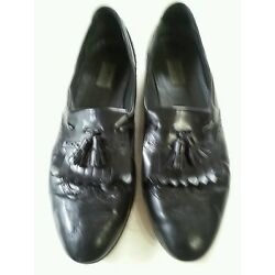 ALFANI 13 M BLACK DRESS SLIP- ONS  Made in Italy good used condition