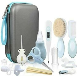 15 Piece Lictin Baby Grooming Kit in travel case. Gray and blue. New in package.