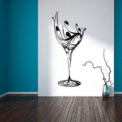 US Wine Cup Removable Self-adhesive Wall Sticker Kitchen Dining Room Decal Decor
